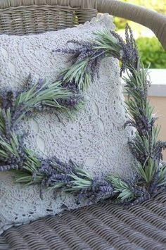 Lavender Cottage:  #Lavender heart wreath.