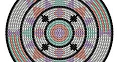 Patroon Aztec.pdf Knitted Bags, Crochet Bags, Tapestry Crochet, Brick Stitch, Aztec, Knitting Patterns, Mandala, Kids Rugs, Coaster