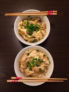 [OC] oyako don (japanese chicken and egg rice)