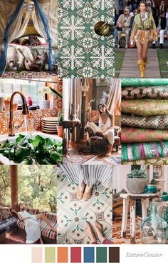 BOHEMIAN TOUR Color Trends, Color Combos, Interior House Colors, Service Design, Color Inspiration, Print Patterns, Colorful Interiors, Print Design, Printing On Fabric