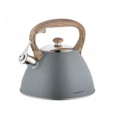 This classically designed whistling kettle is given a contemporary look to design your kitchen. Made using quality stainless steel, the durable kettle is suitable for all hobs, including induction, making it ideal for all kitchens. Motorhome Interior, Gas Stove Top, Kitchen Runner, Or Noir, Design Your Kitchen, Modern Materials, Small Kitchen Appliances, Electric Blue, Household