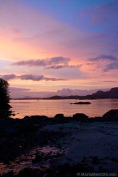 Sunset in Sitka, Alaska