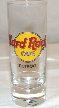 Tall HARD ROCK CAFE Shot Glass Shooter MYRTLE BEACH Red Letters 4 inch