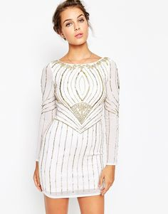 Frock+and+Frill+Long+Sleeve+Embellished+Dress