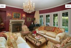 country french formal dinning room   The Osbournes' formal living room has a French style to it, dawning ...
