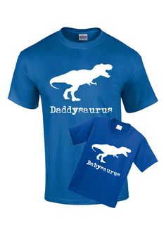 2 Piece Matching T Shirts - Daddysaurus T Shirt for Parent Babysaurus for Son Daughter TShirts Fathers Mothers Day Baby Gift Pregnancy Tees