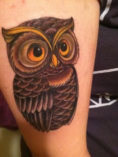 Owl tattoo...I would make it in black and white...