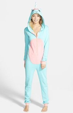 Free shipping and returns on BP. Undercover Unicorn Jumpsuit (Juniors) at http://Nordstrom.com. Classic PJs are given an imaginative makeover in one-piece pajamas modeled after adorable animals.