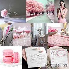 Pink Bridesmaids & Gray Groomsmen