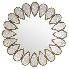 Lena Mother-of-Pearl Wall Mirror