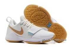 9de0b431dee Nike PG 1 Ivory Oatmeal-Gum Light Brown-Vivid Sky Discount