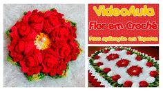 Flor em Crochê Tapete Florido