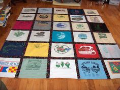 T-shirt quilt. I need to do this will all my sorority shirts!