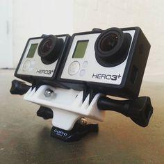 #3dprinting stereoscopic go pro mount. #productdesign #3dprinting #gopro #vr…