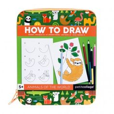A step-by-step guide to drawing animals of all sizes. From penguins to sloths, it's a wild world out there! Paper Doll Chain, Paper Dolls, Collage, Nativity Advent Calendar, Puzzle, Dinosaur Coloring, Monster Cards, Stationery Set, Sticker Shop