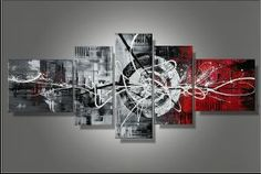 Tableaux design Rouge Gris Fashion
