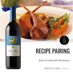 This 6-ingredient recipe for rack of lamb pairs perfectly with roasted veggies and the Fleur Bleu 2016 Seven Petals Blend. Find the recipe in the Lifestyle section of my website!