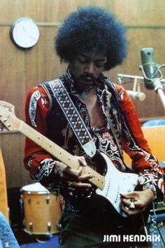 Jimi Hendrix Studio Poster at AllPosters.com