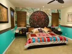 Antonio Ballatore's design. I love the intricate round headboard that he backlit with a multi-color LED strip.