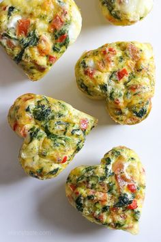 Loaded Baked Omelet Muffins – an easy, healthy Valentine's breakfast idea.
