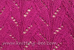 Braided #lace #stitch #knitting #pattern