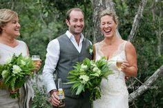 Alan Hughes Photography Sunshine Coast  Laughing bride !! What a happy wedding day, full of fun