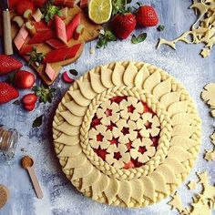 It's been a day of thinking, not doing (other than this pie), which has been gra… – Torten Creative Pie Crust, Beautiful Pie Crusts, Pie Crust Designs, Pie Decoration, Pies Art, Leaf Cookies, Cupcakes, Fruit Pie, Pie Crust Recipes