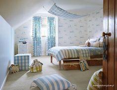 Pokój chłopca w stylu marynistycznym.