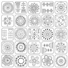 Juliia Snegireva - Most popular images - Page your stress away with Flowers and Squares I coloring canvas. Meridian loyalty club members get a set of premium coloring markers FREE with each purchase!Photo about Geometric pattern. Doodle Patterns, Zentangle Patterns, Heart Patterns, Embroidery Patterns, Doodle Borders, Machine Quilting Patterns, Embroidery Sampler, Flower Embroidery, Flower Patterns