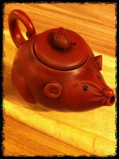 Clay mouse tea pot from Teavana  He is super adorable!