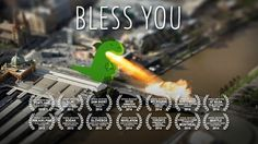 An architect in the skies grows bored of his creation and decides to spice things up in this film that combines 2D animation, tilt shift photography and gratuitous explosions.  There's some behind the scenes info at http://thenewdaily.com.au/news/2013/11/26/dinosaur-destroys-melbourne/  Winner: Best Animated Short, Portland (Oregon) Film Festival 2013 Nominated for Best Animation: Webcuts Berlin 2013 Official Selection: Dragon Con Independent Short Film Festival, Atlanta 2014 Official...