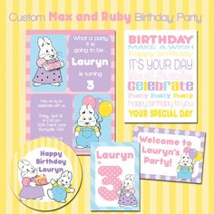 Custom+Max+and+Ruby++Birthday+Party++Printable+Kit+by+emmiecakes,+$23.00