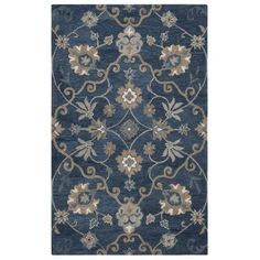 Rizzy Home Leone Lo9985 00 / Blue Area Rug 2 Feet 6 Inches x 8 Feet