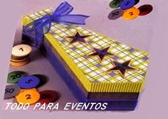 Todo Para Eventos: CAJA CORBATA. Birthday Box, Explosion Box, Box Cake, Ideas Para, Diy And Crafts, Paper Crafts, Origami, Decorative Boxes, Gift Wrapping