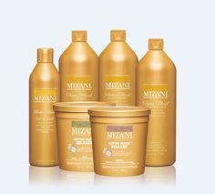 MIZANI | BUTTERBLEND Curl Types III - VIII Our 5-step advanced and moisturising relaxer system containing shea butter, cocoa butter and honey for intense conditioning.