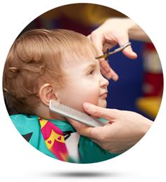 To make kids haircut activity fun, you need to make Kids Haircut salon attractive and friendly environment along with toys, kids-friendly fixtures, bright colors that can easily draw attention of clients. Baby's First Haircut, Baby Haircut, Boy Hairstyles, Trendy Hairstyles, Kids Hair Salon, Haircut Salon, Toddler Haircuts, Our Kids, Salons