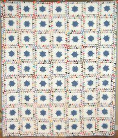 Large Vintage 40's Ocean Waves Pinwheels Stars Antique Quilt ~GREAT DESIGN!   Antiques, Linens & Textiles (Pre-1930), Quilts   eBay!