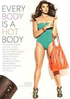 This size 12 model is considered 'plus' size.  Sickening. What kind of world do we live in?!