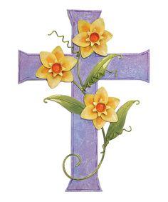Look at this #zulilyfind! Purple Daffodil Cross #zulilyfinds