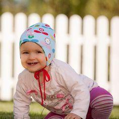 #Cuffietta #neonati e #bambini in #cotone #biologico - fiori