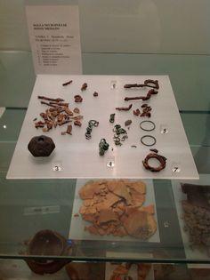 Reperti provenienti da una tomba femminile dell'Età del Ferro (IX-VIII sec. a.C.)