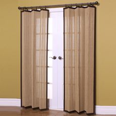 Easy Glide 63-Inch All-Natural Bamboo Ring Top Window Curtain Panel - Bed Bath & Beyond