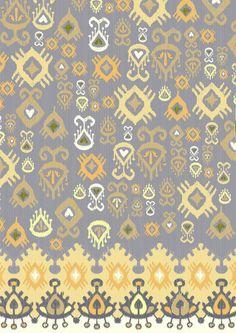 Ikat Sand Art Print #pattern by redroadstudio