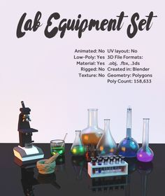 """Check out my @Behance project: """"Lab Equipment"""" https://www.behance.net/gallery/50113521/Lab-Equipment"""