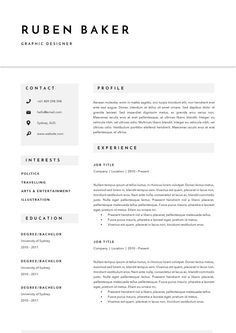 3 Page Resume Template | CV For Word + InDesign | Plus Icon Pack