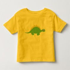 Cute Smiling Green Dinosaur Toddler Tee Shirt - click/tap to personalize and buy