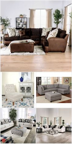 84 awesome sectional brown living room design ideas - Houz on kinal. Living Room Decor Cozy, New Living Room, Living Room Sets, My New Room, Home And Living, Living Room Designs, Living Room Remodel, Apartment Living, Living Room Inspiration
