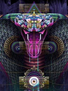 Trippy Feral Digital Art : psychedelic digital art
