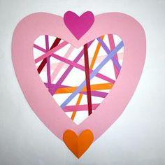 amazon/basteln-Herz-Tonpapierstreifen-Muttertag