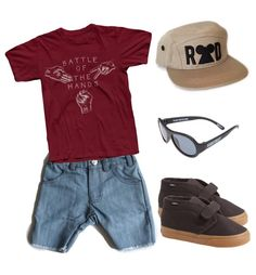 Infant and toddler boy summer fashion. Tee and cap from www.beckettsthreads.com